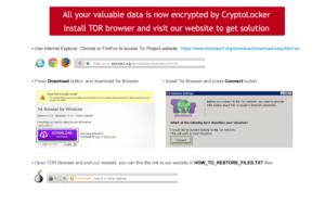 Ransomwear cryptolocker