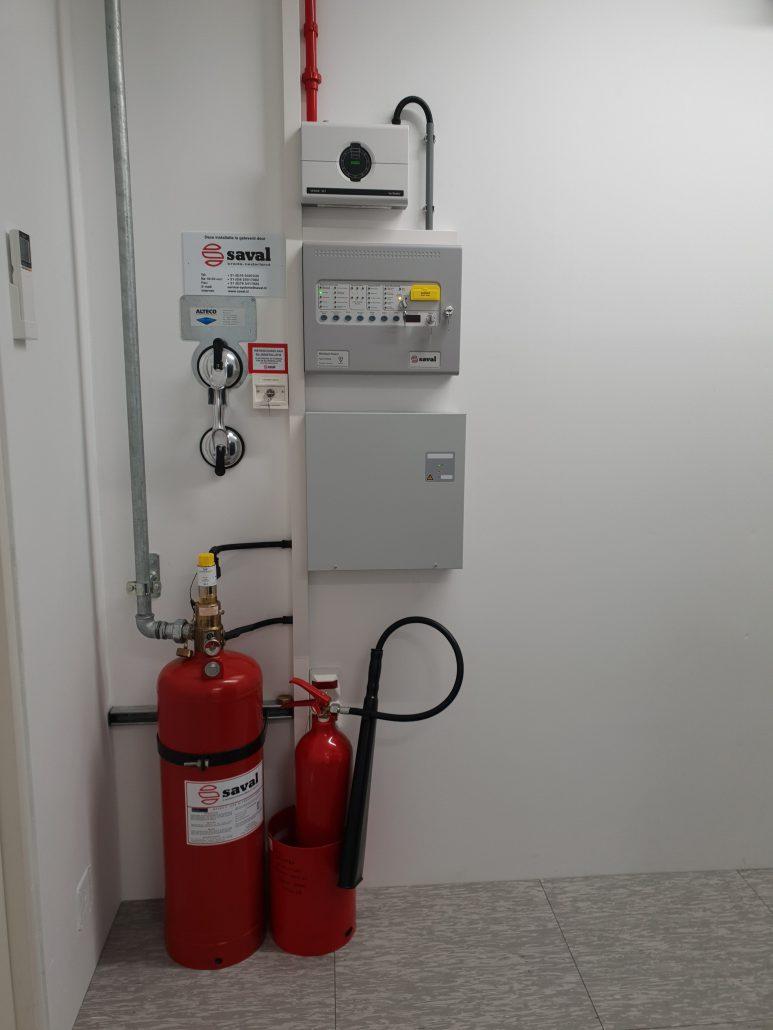 brandinstallatie serverruimte